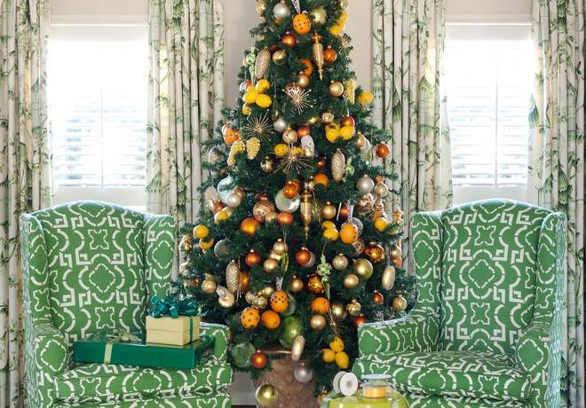 Impressive cheap artificial christmas trees in Living Room Traditional with Southwestern Style Decorating next to Potted Patio Trees alongside Shutter Drapes and Pictures Of French Country Decorating