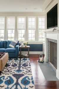 Bright ikat rug in Living Room Traditional with Ikat Rug ...