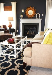 Dazzling navy and white striped curtains Decoration ideas ...