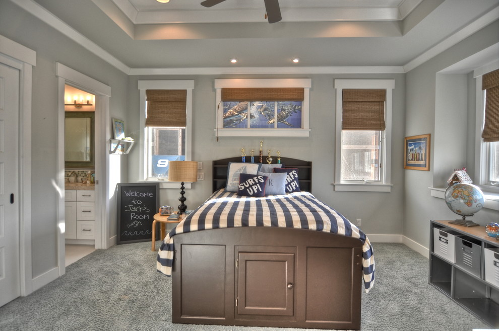 Innovative ceiling fan globes in Kids Traditional with Wickham Gray next to Bamboo Furniture alongside Benjamin Moore Sea Salt and Mudroom Locker Ideas