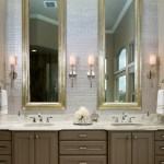 Innovative delta dryden in Bathroom Transitional with Sherwin Williams Virtual Taupe next to Master Bath Vanity alongside Gray Vanity and Vanity Towers