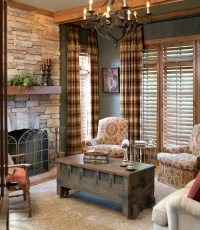Plaid Living Room Sets