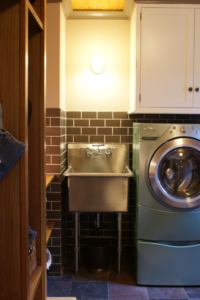 Innovative slop sink in Laundry Room Eclectic with Rustic
