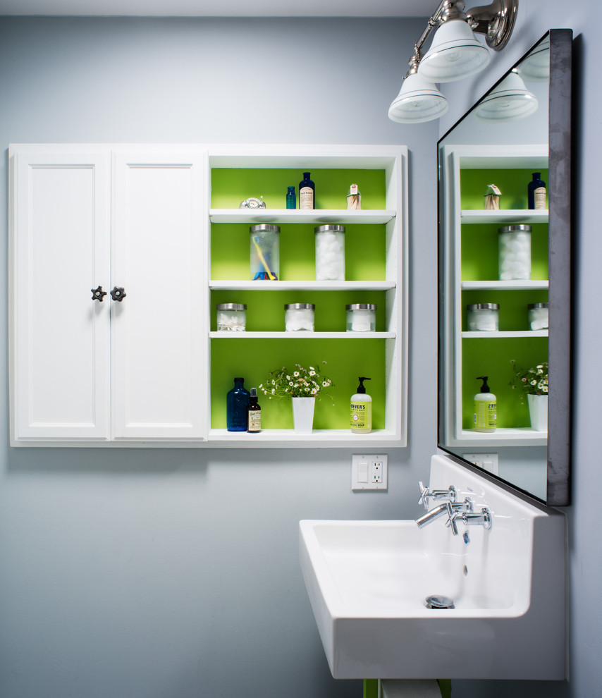 Innovative wall mount paper towel holder in Bathroom Transitional with Handicap Accessible Bathroom Designs  next to Wall Mounted Tv Cabinet  alongside Double Faucet Sink  and Bathrooms