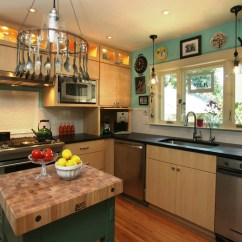 Kitchen Island With Trash Can L Shaped Rug Sumptuous Butcher Block Image Ideas For ...