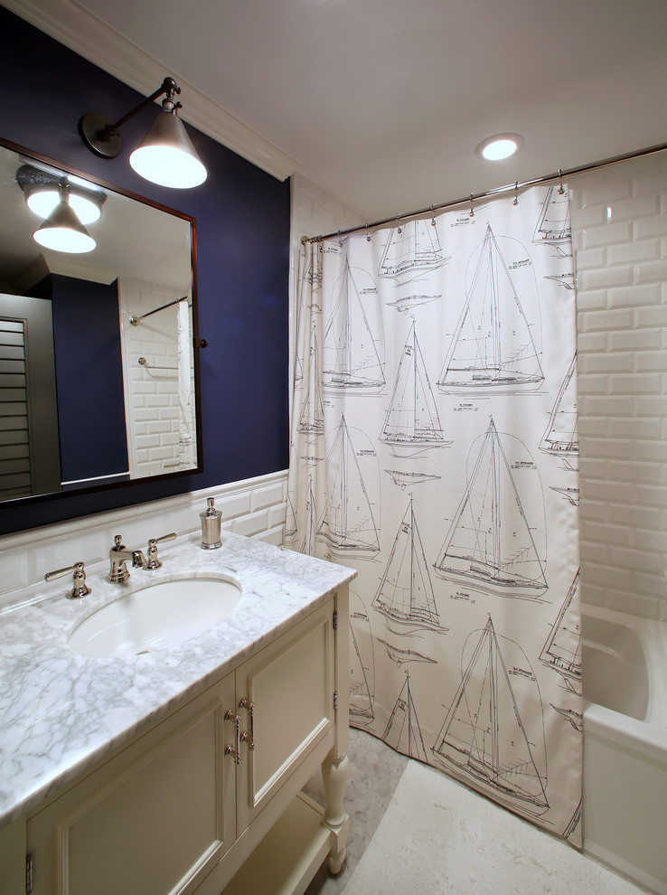 Superb Nautical Shower Curtain Decorating Ideas For