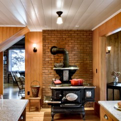 Living Room Designs With Wood Stove Contemporary Wall Decor Inspired Single Burner Propane In Kitchen Beach Style Ivory Fantasy Granite Next To Hearth Alongside Behind Ideas And Brick
