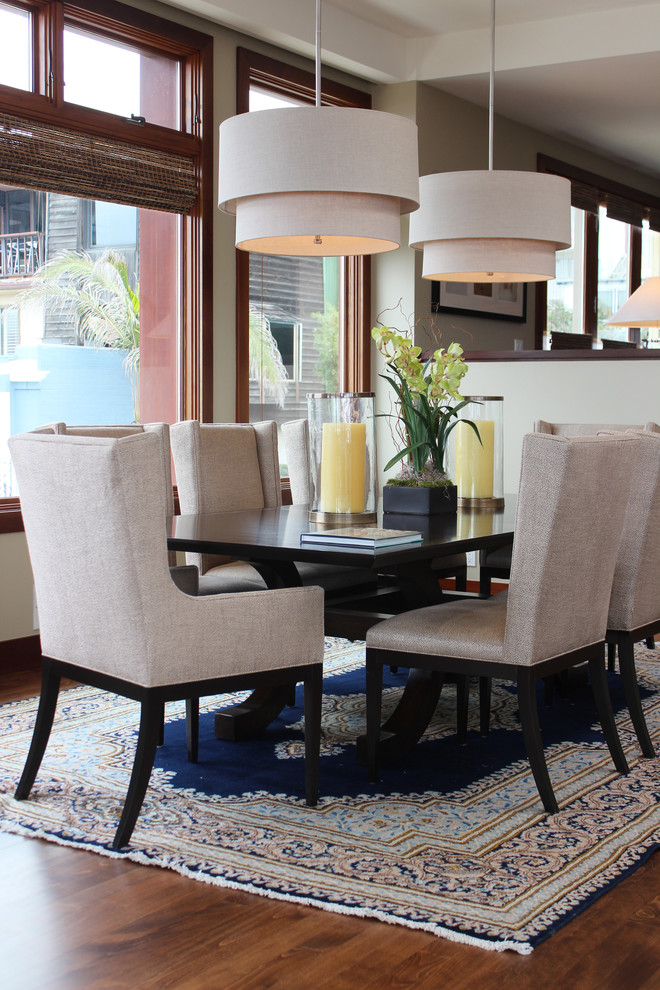 Cool wingback dining chair in Dining Room Beach Style with