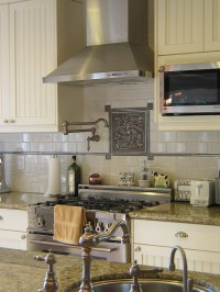 Marvelous pot filler faucet in Kitchen Traditional with ...