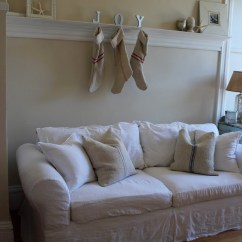 White Slipcovered Sofa Living Room Decorating With Leather Furniture Ideas Marvelous Sofas In Shabby Chic Eanf Next To Linen Alongside Apartment Size And Cover