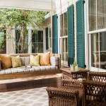 Marvelous wooden porch swing in Porch Traditional with Hanging Swings next to Green Shutters alongside Hanging Daybed and Porch Swing