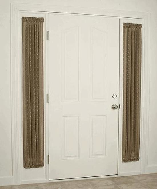 Good Looking Sidelight Curtains In Entry Beach Style With