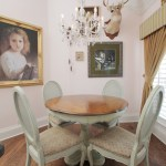 Pretty small dinette sets in Dining Room Eclectic with Blind Valance next to Breakfast Room alongside Pictures Of Valances and Deer Head