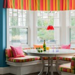 Pretty small dinette sets in Dining Room Transitional with Seat Cushions next to Coastal Beach Window Valance alongside Teal And Coral and Hardwood Flooring Kitchen