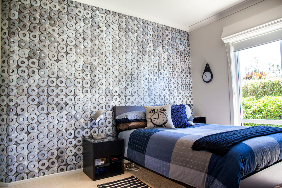Splashy bedspreads for teens in Bedroom Contemporary with Teen Bedroom Paint  next to False Ceiling Photos  alongside Guy's Bedroom  and Teenage Bedroom Ideas For Boys