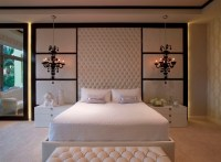 Splashy quilted headboard in Bedroom Contemporary with ...