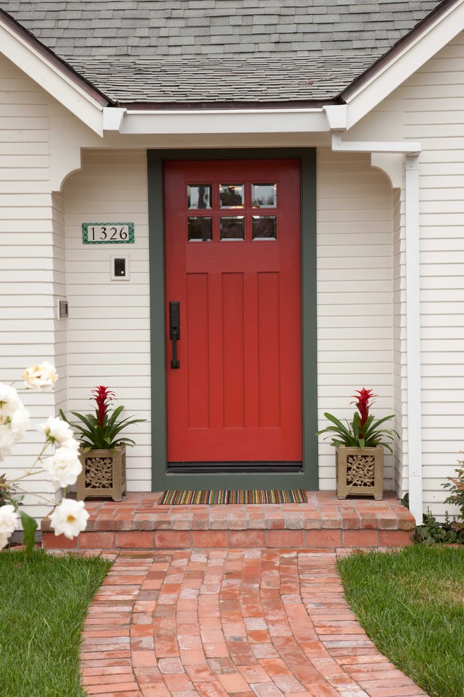 Sumptuous funny welcome mats in Entry Traditional with Colonial Front Doors  next to Painted Interior Doors  alongside Painting Wall Stripe Ideas  and Wood Door