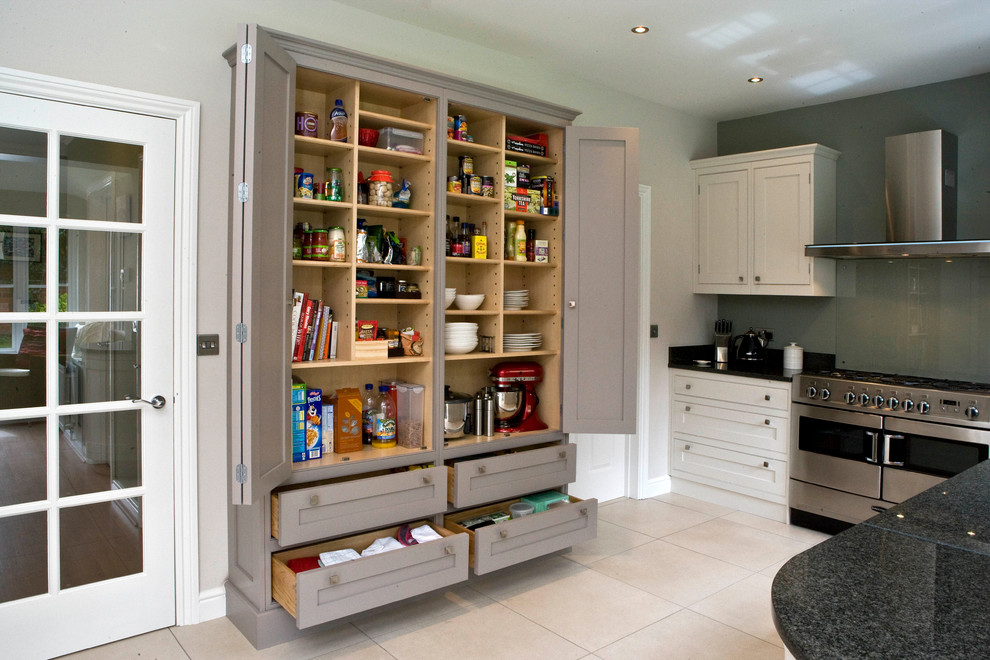 Superb freestanding pantry cabinet in Kitchen Contemporary