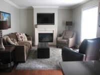 Gray And Brown Living Room