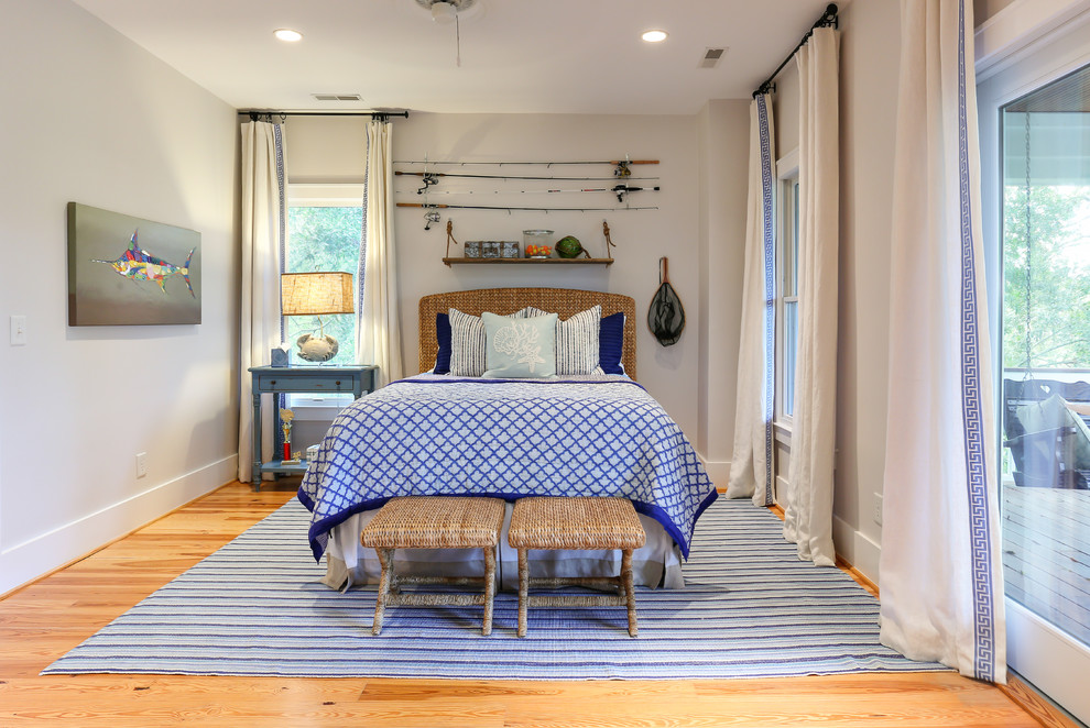 Superb wicker headboard in Beach Style San Francisco with Headboard With Floating Nightstand next to Coral Bedding alongside Floating Headboard and Royal Blue