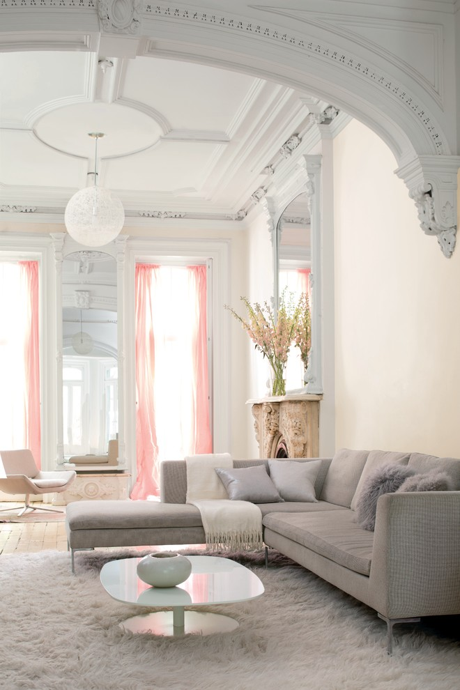 Layer Curtains  Crown Molding Color