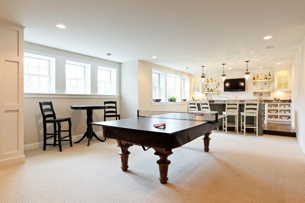 Ping Pong Table Ideas  Exposed Basement Ceiling