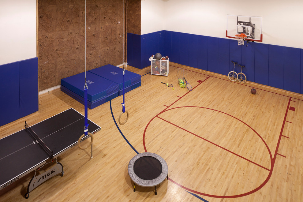 Best Home Gym Colors  Basketball Court In Backyard