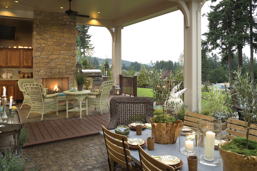 Patio Fireplace  Summer Kitchen