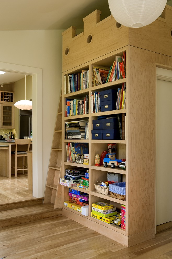 Hide Garbage Cans  Attic Staircase
