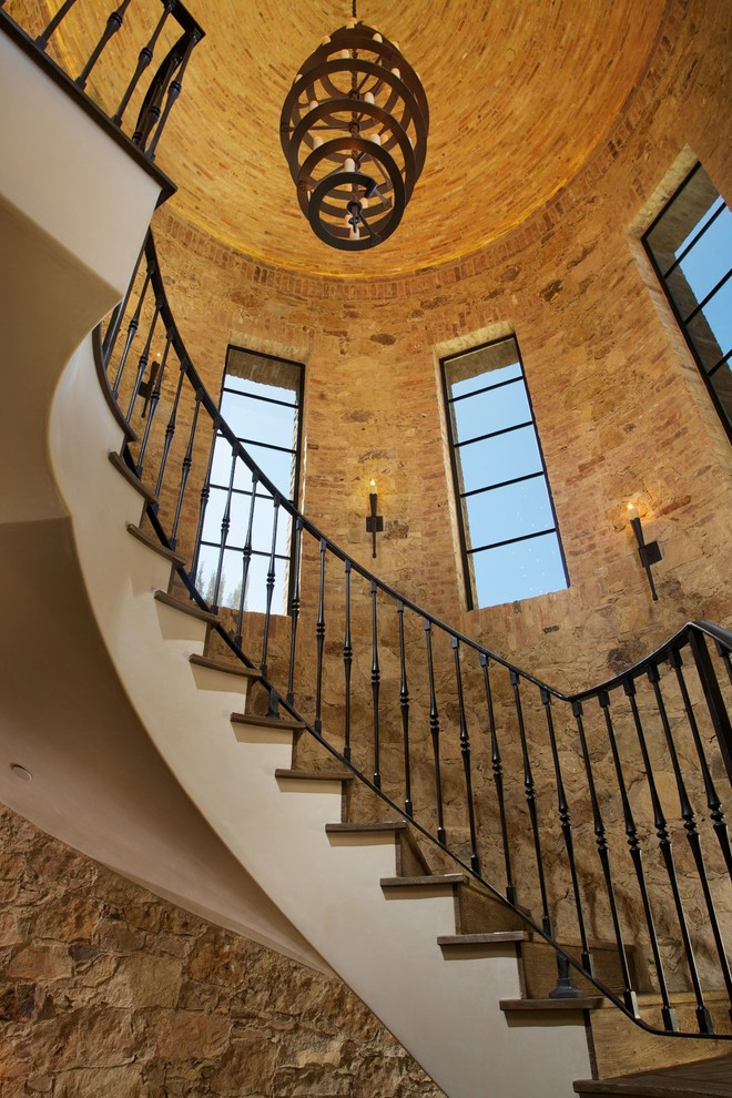 Winding Staircase  Brick Stairs