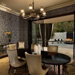 Dining Room Curtains Dining Room Wallpaper