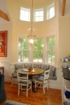 kitchen banquette seating dining room traditional with round table cotton blend benches