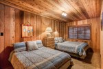 log cabin bedroom rustic with polyester fill decorative pillows