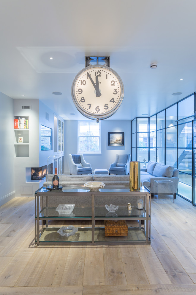 Modern Wall Clock Living Room Midcentury With Mid Century