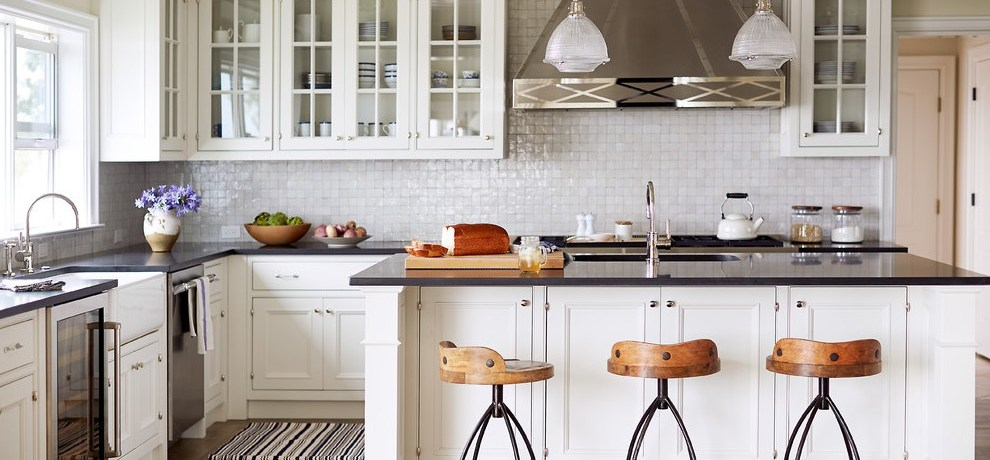 mother of pearl kitchen traditional with vent hood islands and carts
