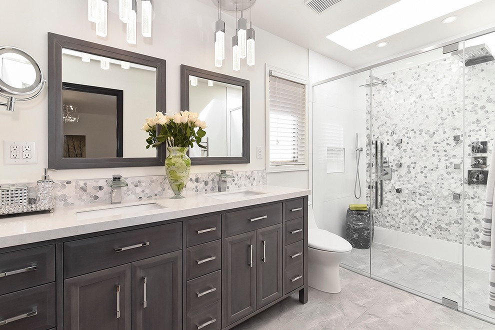 beadboard bathroom vanity transitional with spot light cup