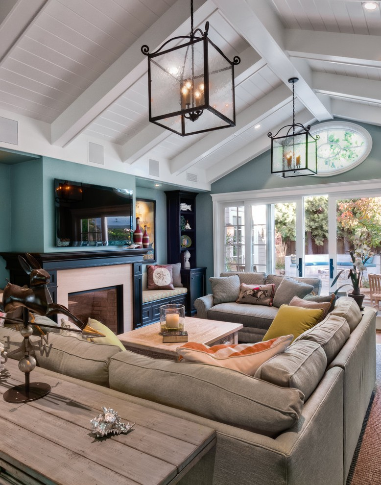 Cathedral Ceiling Lighting Living Room Modern with Pendant