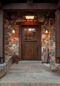 Farmhouse Front Door Entry Contemporary with Porch Light ...