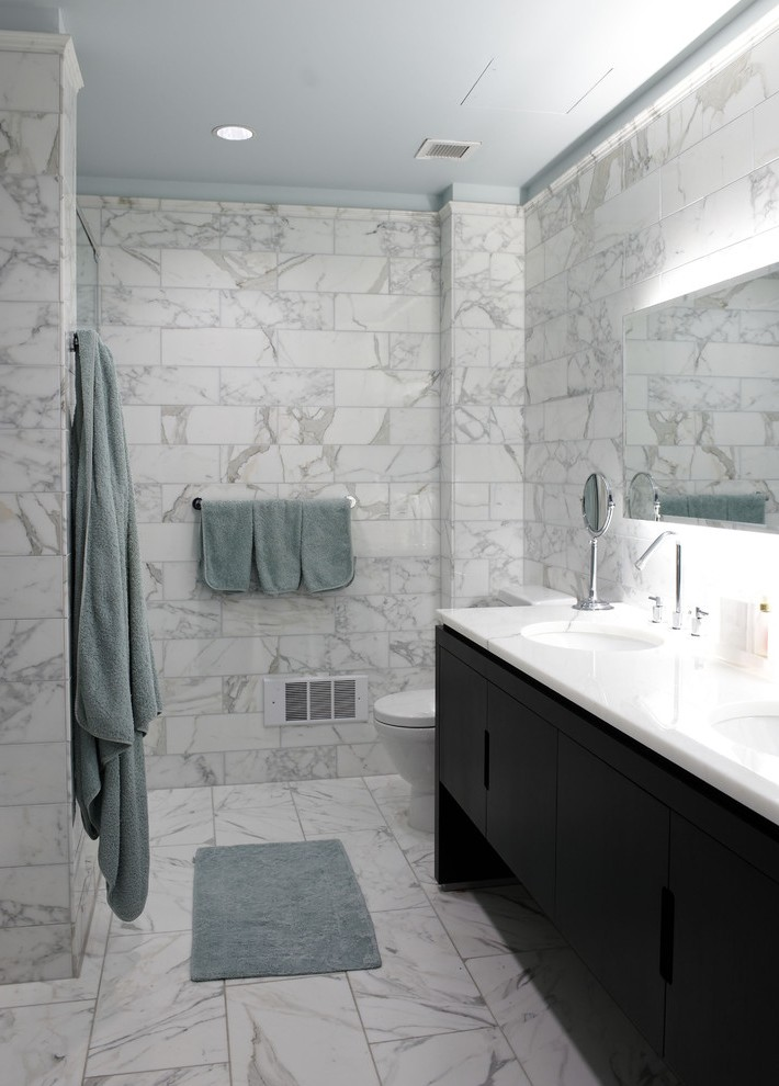 Marble Countertops Cost Bathroom Contemporary With Walls