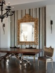 Metal Table Base Dining Room Contemporary with Art Orange County Kitchen and Bath Designers