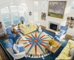 Nautical Living Room Beach Style Los Angeles with Wallpaper and Wall Covering Professionals