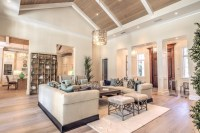 vaulted ceiling lighting living room contemporary with ...