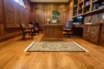 White Oak Hardwood Dining Room Traditional with Dark Walnut Stain Over Floors in Wellesle Boston Specialty Contractors