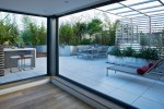 Wire Mesh Deck Modern with Outdoor Shade Wicker Rattan Chaise Lounges