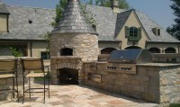 Built in Barbecues with Outdoor Fireplaces Stone Fireplace ...