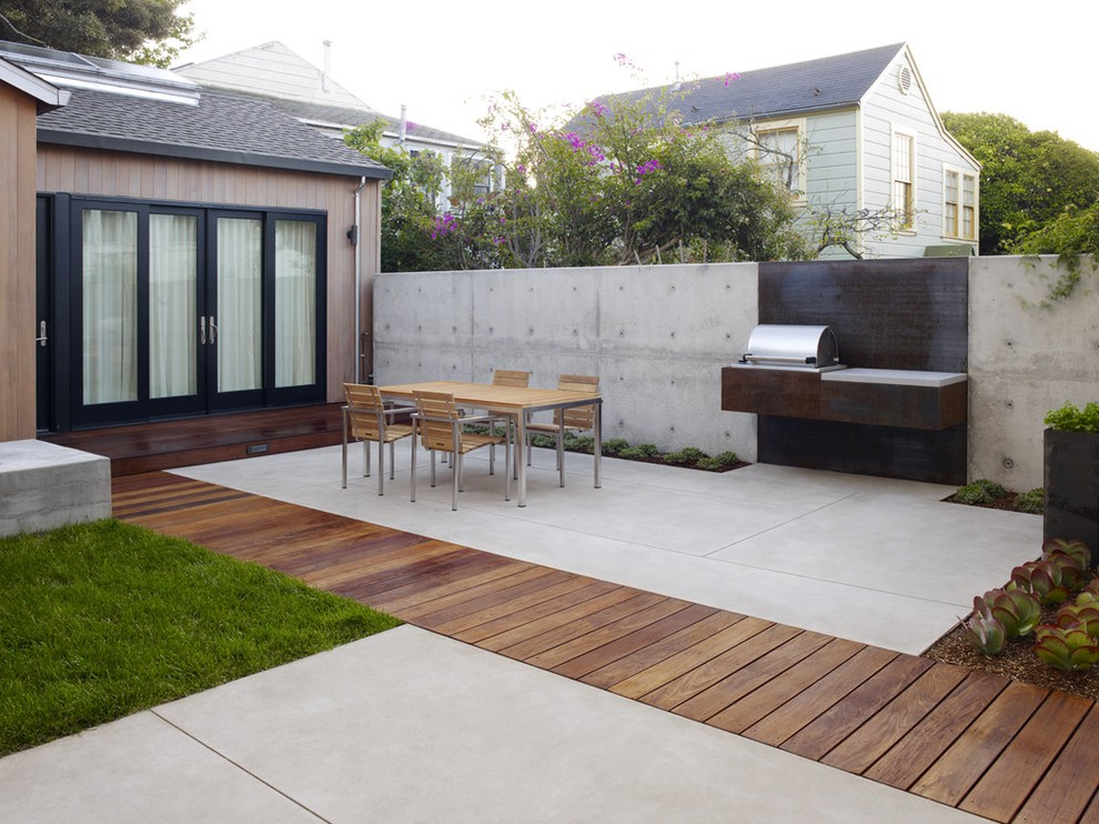 cement patio ideas modern with terrace