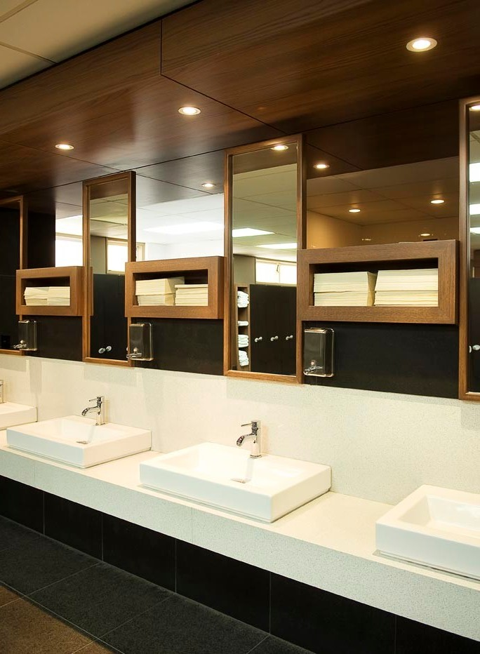 commercial bathroom design auckland basin with