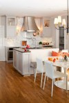 Copper Range Hood Kitchen Transitional with Wood Island San Francisco Architects and Building Designers
