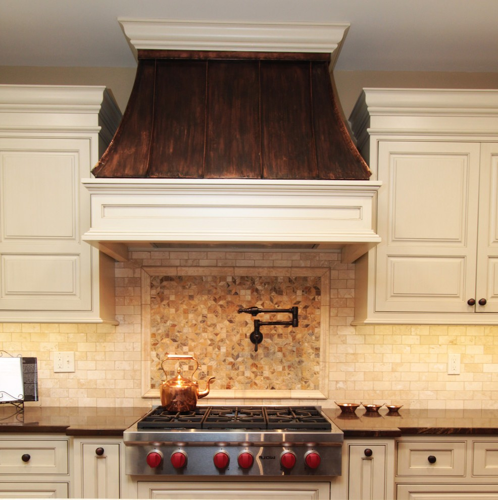 Copper Vent Hoods Traditional Baltimore With Round Standard Height Dining Tables