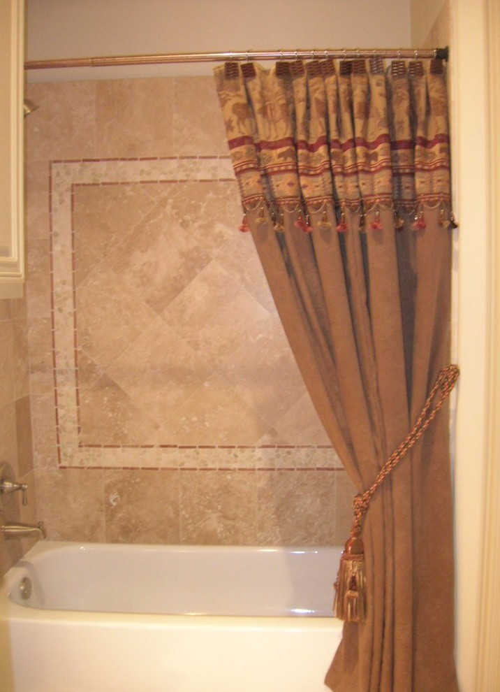 Custom Shower Curtains Bathroom Traditional With Green